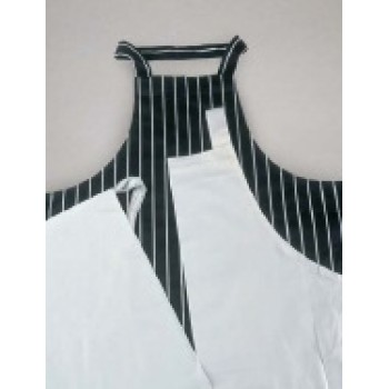 Butchers Stripe - Bib apron