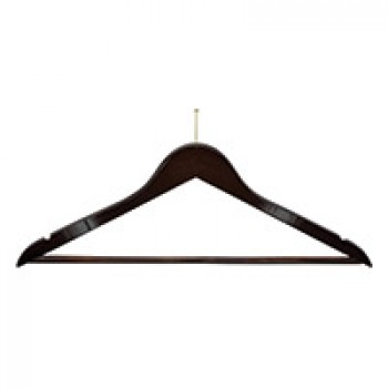 Luxury Walnut Brown Wooden Hanger