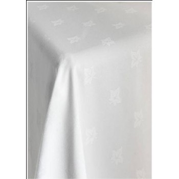 "36x36"" IVYLEAF TABLECLOTH WHITE"