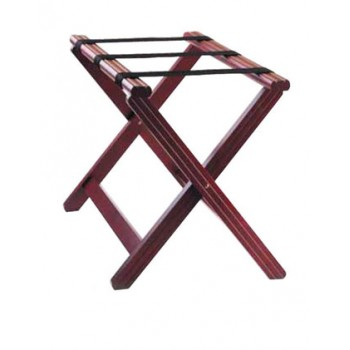 Folding Luggage Racks - Mahogany