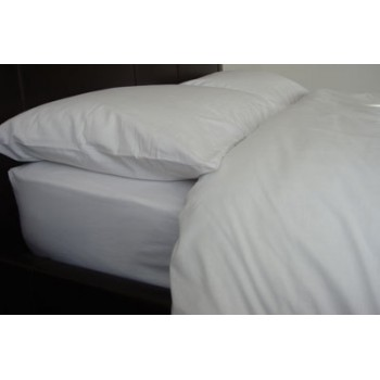 Polycotton Sheets Flat - White