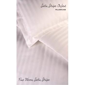 Satin Stripe Duvet Covers / Pillowcases PERCALE