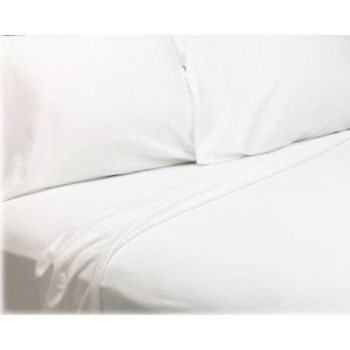 70/30 Cotton Rich Flat Sheets - WHITE