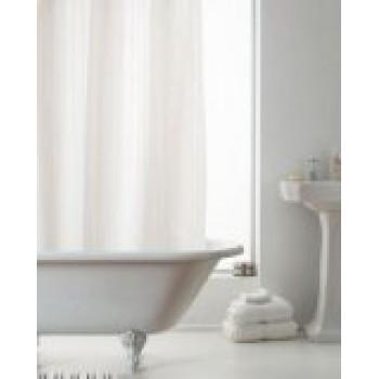 NEW Hookless Satin Stripe Shower Curtain