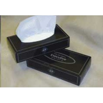 Facial Tissues - Flat Box - black